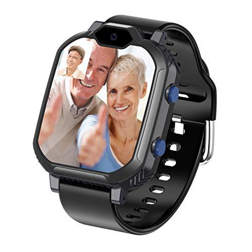 HXwsa Smart Watch voor mannen en vrouwen, met lichaamstemperatuurmeting, 4G videooproepen en betaalfunctie, Full Touch-kleurendisplay, waterdichte fitnesstracker voor Android iOS telefoons