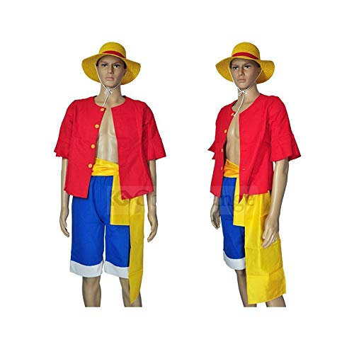 Cosplay Kleidung Luffy Cosplay ONE Piece Anime Full Set Kleidung Benutzt Für Halloween-Partei-Maskerade Stage Show A-S