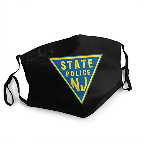 Nj State Police Face Mask Unisex Reusable Washable Anti-Dust Windproof Face Cover for Outdoors