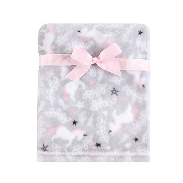 Hudson Baby Unisex Baby Plush Blanket with Security Blanket, Whimsical Unicorn, One Size