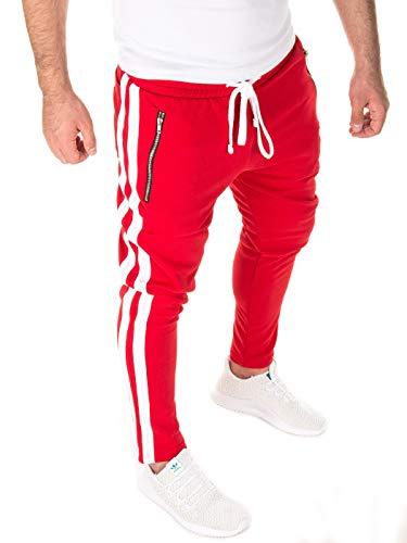 Yazubi Herren Jogginghose Rayne, red/White (0201), M