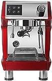 YINGGEXU Cafetera Máquina de café Comercial, 1.7L Comercial Cafetera, Espresso Italiano Tipo de Vapor Semi-automático de la máquina de café, Rojo