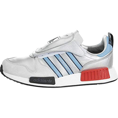 adidas Micropacer x R1 Mens in Silver Metallic/Light Blue, 12