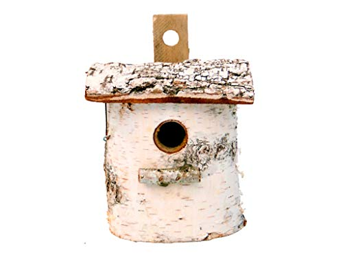 Damian-Wiklina Bird nesting box, birch nest cave (16 x 12 cm) 32 mm