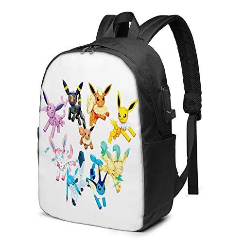 IUBBKI Bolsa para computadora mochila USB Um-Bre-On 17 Inch Laptop Backpack For Men & Women,Travel/School Backpack With Usb Charging Port & Headphone Interface