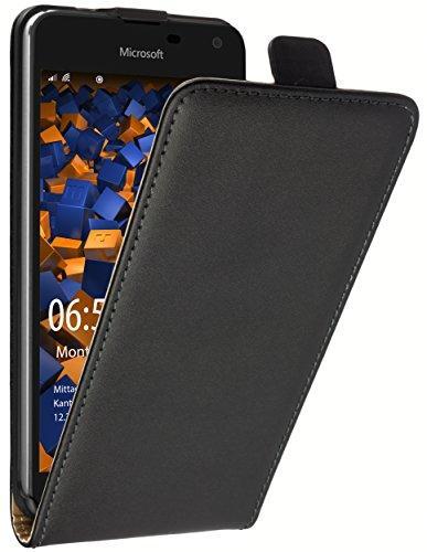 mumbi Tasche Flip Hülle kompatibel mit Microsoft Lumia 650 Hülle Handytasche Hülle Wallet, schwarz