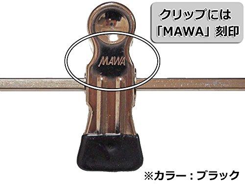 『マワ すべり落ちない MAWAハンガー スカート ズボン用 T型ボトム 10本組 ブラック 5012』のトップ画像