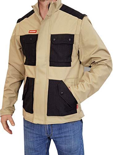 Weichers 2 in 1 Jacke Weste verstärkte Nähte 340 g/m Arbeitsjacke ² Bundjacke Arbeitsbekleidung Herren Arbeitsschutzbekleidung Sicherheitsjacke Arbeitsweste Berufsbekleidung