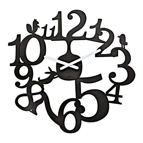 koziol Wanduhr  [pi:p],  Kunststoff, solid schwarz, 3,2 x 45 x 44,5 cm