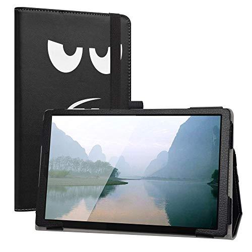 Labanem Custodia con Lenovo Tab M10 HD, PU Pelle Slim Flip Case Cover Protettiva Pieghevole Stand Cover per 10.1  Lenovo Tab M10 HD (2nd Gen) TB-X306X Tablet - Don t Touch