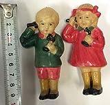 電話をする少年 少女 戦前 セルロイド人形 アンティーク品