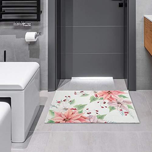 Indoor/Outdoor Doormat Poinsettia Door Mats Bathroom Kitchen Decor Area Rug Non Slip Entrance Door Floor Mats,15.7'x23.6'
