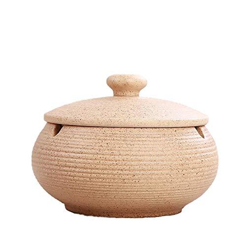 Demarkt Zigarren Aschenbecher Chinesische Keramik Aschenbecher Mit Einer Abdeckung Teetisch Couchtisch Klein Dekoration Zigarren Aschenbecher mit Deckel