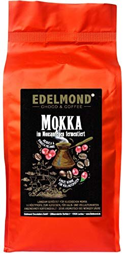 Edelmond Mokka Langzeitröstung. Hohe Crema. Angenehmer Koffeeingehalt, feine Säure. Hausröstung (1000 g)