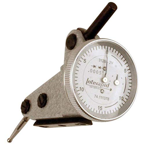 """Interapid 312B-2V .060"""" 0-15-0 1"""" Dial Vertical Dial Test Indicator"""