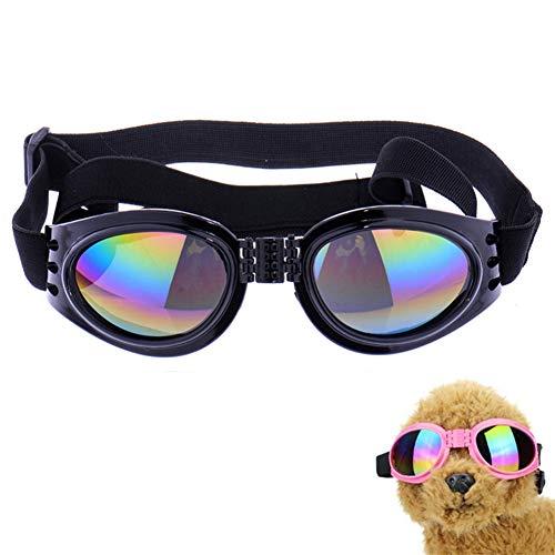 DC CLOUD Gafas De Sol Perros Gafas para Gatos Gafas para Gatos Plegable Perro Gafas de Sol Perro Gafas Gafas Protectoras para Perros Gafas UV para Perro Black