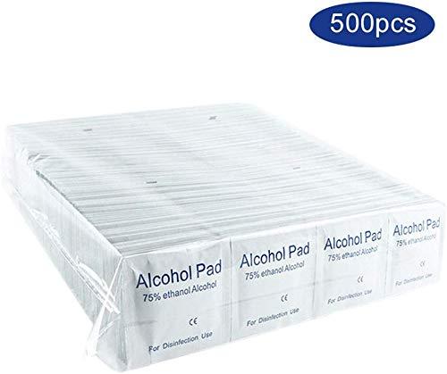 500 Stks/doos Alcohol ontsmettingsmiddel katoenen plakjes, 5x5 cm 75% Sterile Alcohol Prep Pads Gauze Pads Individueel verpakt Swap Pad Nat Veeg voor Outdoor Huidreinigingsverzorging