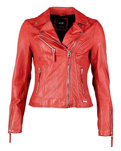 Maze Damen Lederjacke Mit Auffälligem Innenfutter Amur Red XS