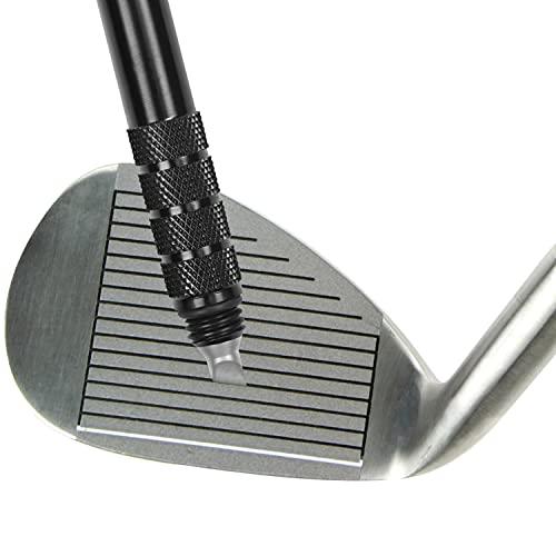 Schwarzes Golf Club Groove Sharpener Werkzeug Golf Rillenschleifer/Rillenschärfer/Golf Zubehör Saubere Keile, Schärft Kanten u.Rillen - Verbessert Rückwärtsdrall u. Ballkontroll