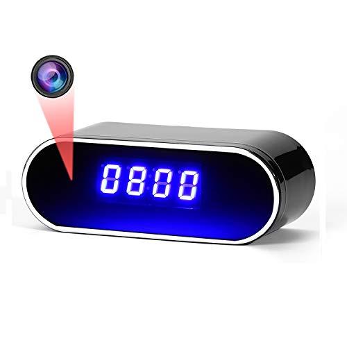 Cámara espía, cámara Oculta, Reloj WiFi Cámaras espía Visión Nocturna Full HD1080P WiFi inalámbrico Detección Inteligente de Movimiento