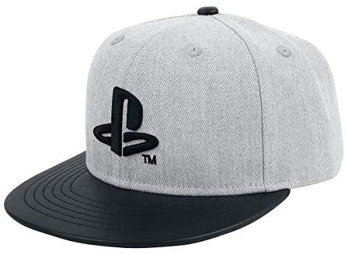 Playstation Logo Cap grau/schwarz
