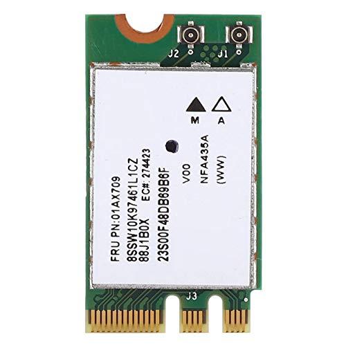 Shipenophy Matériel de Haute qualité Carte réseau fiable Interface Bluetooth M.2 bi-Bande Transmission Rapide du Signal 2.4G + 5G pour Ordinateur Portable
