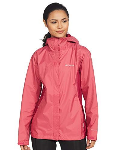 Columbia Women's Raincoat (RL2436-634- Rouge Pink Red Orchid_XL)