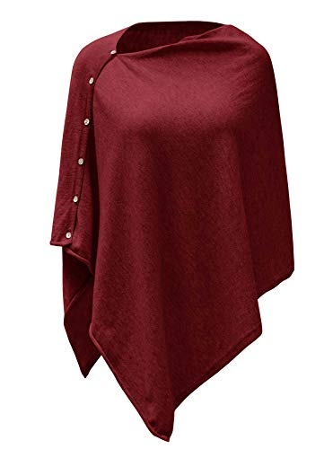 PULI Women's Versatile Knitted Scarf with Buttons Light...