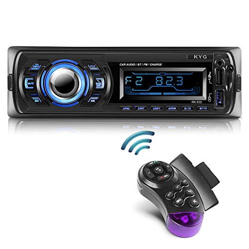 Autoradio Bluetooth Main Libre KYG Radio Voiture avec 2 Ports USB et MMC Card Slot, Supporte Max 32G de Mémoire Lecteur FM/MP3/ USB/SD/WMA/AUX/Télécommande, 7...