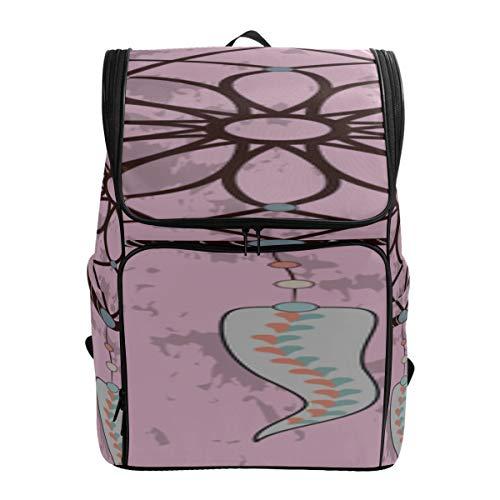 Colorful Dream Catcher Boys Sport Bag Hiking Bag Lightweight Outdoor Hiking Bag Vintage Bookbag Fits 15.6 Inch Laptop And Notebook Best Backpack Kids Bookbags For Girls