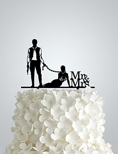 AWAC48S - Acrylic Wedding cake Topper inspired by Star Wars