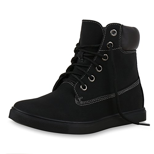 SCARPE VITA Dames Sneakers Boots-Met-Veters Lederlook Schoenen
