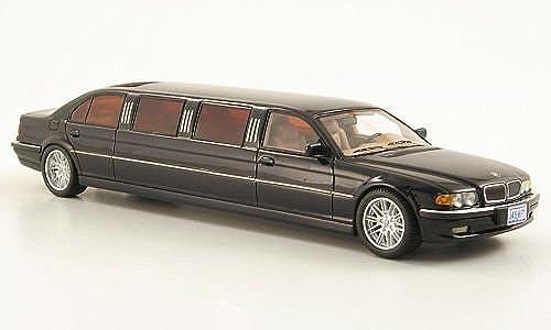 BMW 7er (E38) Stretch Limousine, met.-dkl.-blau, Modellauto, Fertigmodell, Neo 1 43