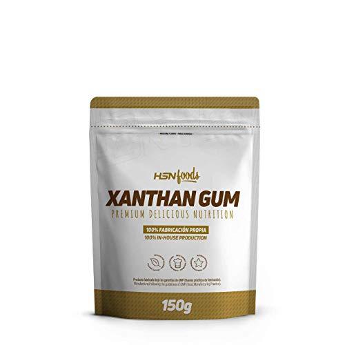 Goma Xantana de HSN | Espesante Alimenticio | Ideal para Recetas Fitness | Fibra Soluble para dar Espesidad | Vegano, Sin Gluten, Sin Lactosa, En Polvo, 150 gr