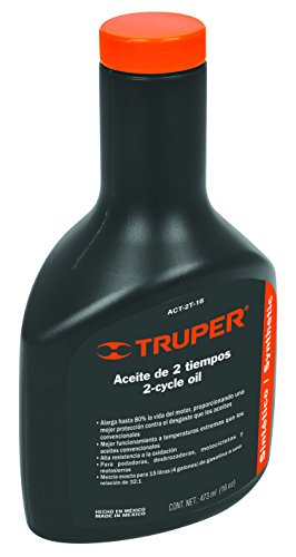 Truper ACT-2T-16, Aceite sintético para motor de 2 tiempos, 473 ml (16 oz)