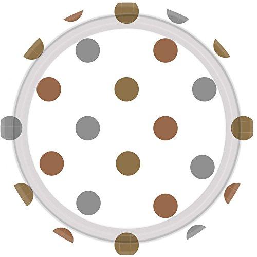 Amscan International 551661 métaux Mixtes Pois 23 cm Papier Assiette