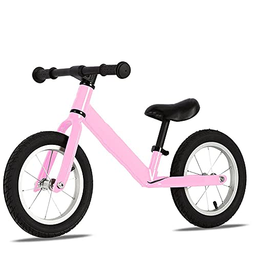 YMDA Balance Bike, 12-Inch Lightweight Training Bike with Pedals, Adjustable Seat Height and Non-Slip Handles, Lightweight and Durable