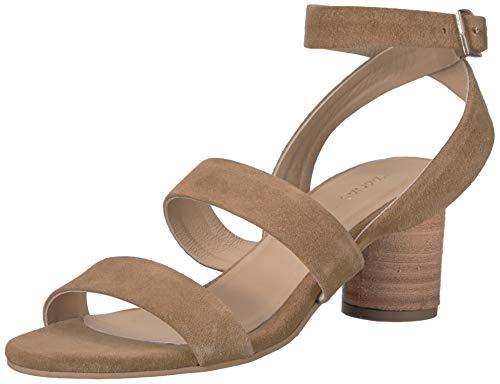 KAANAS Damen Noosa Open Toe Heeled Ankle Strap Shoe Flache Sandale, hautfarben, 39 EU