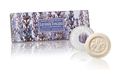 Lavendelseife, rund 3 St je 100g, handgemachte italienische Seife aus Fiorentino