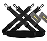 RICHEN Replacement Shoulder Strap Adjustable Luggage/Laptop/Camera Bag Strap with Swivel Hook,Pack of 2,Black