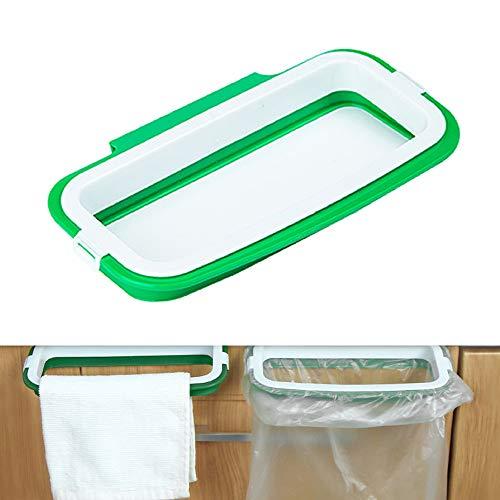 tingz hängender Müllsackständer,Müllsackhalter Müllhalter/Mülleimer über dem Schranktür hängender für die Lagerung von Küchenmüll(grün)