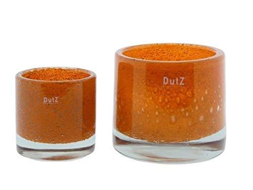 DutZ Cylinder Thick | orange | mundgeblasen | Windlicht | Vase | Übertopf | schwere Ausführung | versch Grössen (H 10 cm D 10 cm)