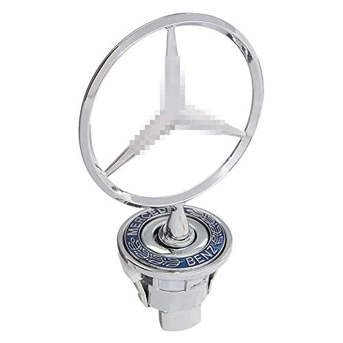 L&U Stern-Abzeichen Hood Logo, Zink-Legierung Auto Frond-Hauben-Verzierung Emblem Chrome Adler-Abzeichen 3D-Logo für Mercedes Benz C E S W Klasse