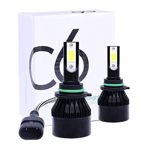 Goede prestaties 9006 / HB4 LED koplamp van vliegtuigaluminium, 6500K 9V-32V 72W 16000LM, geïntegreerde ombouwset COB lampkralen (2), lange levensduur van de lamp