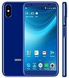 Smartphone Pas Cher Debloqué, DOOGEE X55 - Double SIM Android 7.1 3G Telephone Portable, Quad Core 1.3GHz 1Go + 8Go, Triple caméra (5MP + 8MP + 8MP), Batterie 2800mAh - Bleu