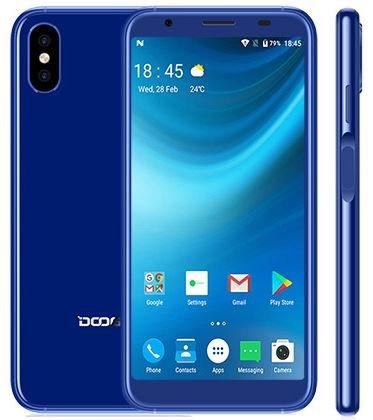 Smartphone Barato, DOOGEE X55 3G Teléfonos Móviles Gratis con Dual Sim, 5.5 Pulgadas (relación 18: 9) HD Android 7.1, Quad Core 1.3GHz 1GB + 8GB, cámara Triple (5MP + 8MP + 8MP) - Azul