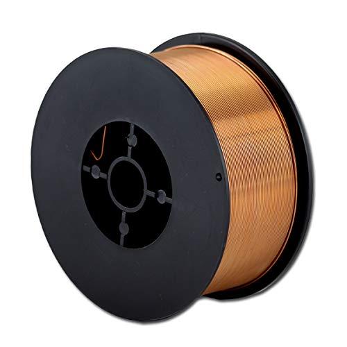 STAHLWERK MIG/MAG Schweißdraht Ø 0,8 mm, Stahl SG3 ER70S-6, auf 1kg D100 Rolle mit 16mm Dorn, universell einsetzbar