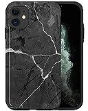 Casfy - Funda para teléfono compatible con iPhone 11, elegante piedra negra ABC099_5, diseño de moda estético, accesorios para teléfono