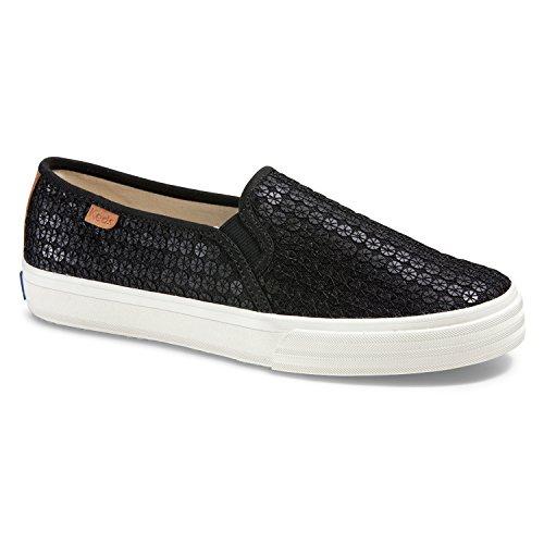 Keds Double Decker Pinwheel - Sneakers para Mujer, Color Negro, Talla 9