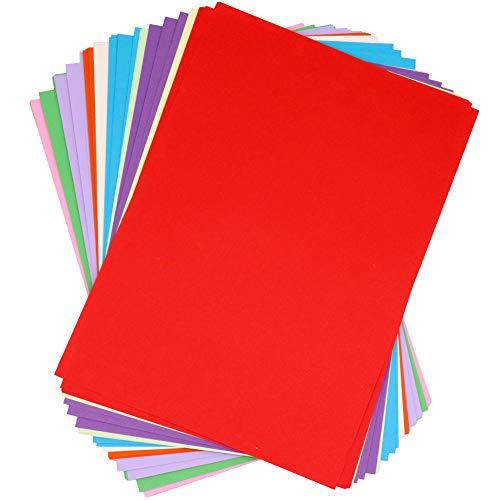 100 Panngu Buntes A4 Kopierpapier Papier, Premium Farbpapier, DIY Buntpapier Bastel-Bogen Farbig für Gestalten Dekorieren Zuschnitt - Blatt Tonpapier
